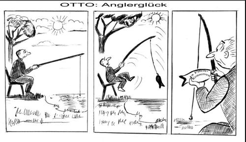 Cartoon: Anglerlatein (medium) by arno tagged anders,mal,angeln