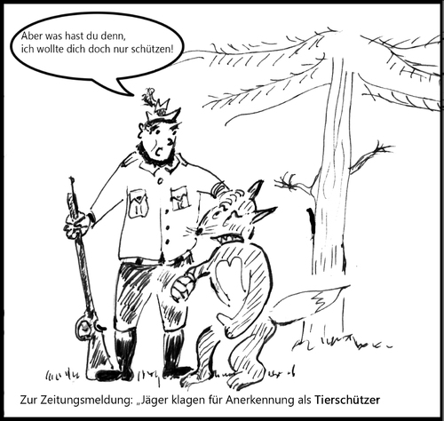 Cartoon: tierisch (medium) by arno tagged jagd