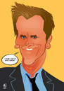 Cartoon: Bacon (small) by Martynas Juchnevicius tagged kevin bacon cartoon art actor celebrity famous