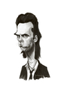 Cartoon: Nick Cave (small) by animatik tagged nick cave singer caricature painting digital