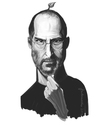 Cartoon: Steve Jobs (small) by animatik tagged steve,jobs,apple,macintosh,caricature,painting,digital