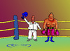 Cartoon: boxing (small) by janjicveselin tagged boxer,boxing,sport,theft,ring,judges,winner,defeat,unsportsmanlike