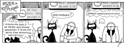 Cartoon: Kater und Köpcke (medium) by badham tagged badham,teartalestrust,kartuun,si,strip,siegen,bonn,köpcke,kater