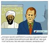 Cartoon: Die Welt nach Osama bin Laden (small) by badham tagged osama,bin,laden,tod,usa,afghanistan,pakistan,heiliger,krieg,dschihad,terrorismus,terror,al,qaida,exekution,badham,hammel
