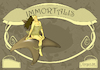 Cartoon: Immortalis (small) by DrCoragre tagged art nouveau modernisme cartell fantasy illustration drawing mixed media comic naturei