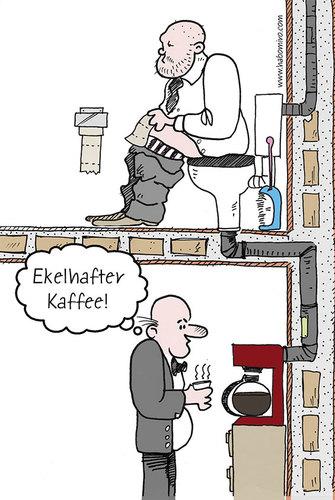 Ekelhafter Kaffee von Habomiro  Wirtschaft Cartoon  TOONPOOL