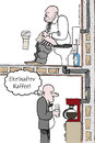 Cartoon: Ekelhafter Kaffee (small) by Habomiro tagged habomiro kaffee klo toilette wc 00 kaffeemaschine büro