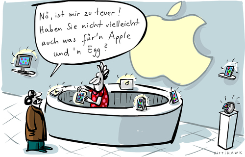 Cartoon: Apple and Egg (medium) by kittihawk tagged kittihawk,2015,apple,rekordgewinn,teuer,zu,und,egg,appel,ei,billig,ipad,iphone,smartphone,telefon,handy,laden,store,kittihawk,2015,apple,rekordgewinn,teuer,zu,und,egg,appel,ei,billig,ipad,iphone,smartphone,telefon,handy,laden,store