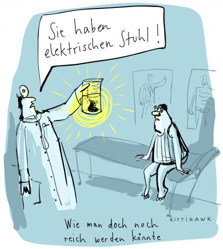 Elektrischer Stuhl Von Kittihawk Wirtschaft Cartoon Toonpool
