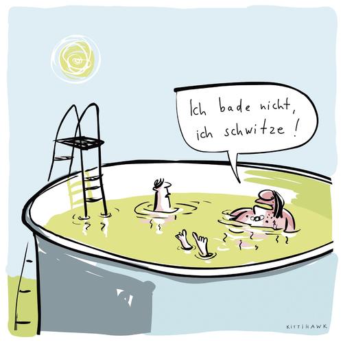 Cartoon schwitzen medium by kittihawk tagged sommer hitze sommer