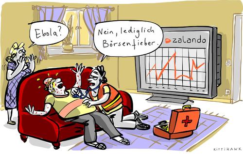 Cartoon: Zalando (medium) by kittihawk tagged kittihawk,2014,ebola,börsenfieber,zalando,notarzt,schwitzen,schweiß,auf,und,ab,wohnzimmer,mann,frau,ehepaar,kollaps,zusammenbruch,abhören,erste,hilfe,börsengang,kittihawk,2014,ebola,börsenfieber,zalando,notarzt,schwitzen,schweiß,auf,und,ab,wohnzimmer,mann,frau,ehepaar,kollaps,zusammenbruch,abhören,erste,hilfe,börsengang