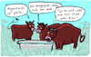 Cartoon: Steak (small) by kittihawk tagged kittihawk,2014,argentinien,pleite,hedgefonds,staatsbankrott,steak,rinder,weide,geld,finanz,anlage,gläubiger,default