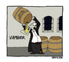 Cartoon: Vambier. (small) by LePhyxCartoons tagged vampir,bier,dracula