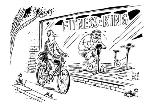 Fitness Karikatur