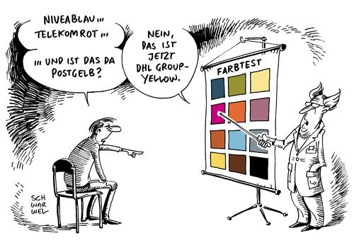 Geschützte Farben Nivea Streit von Schwarwel | Wirtschaft Cartoon ...
