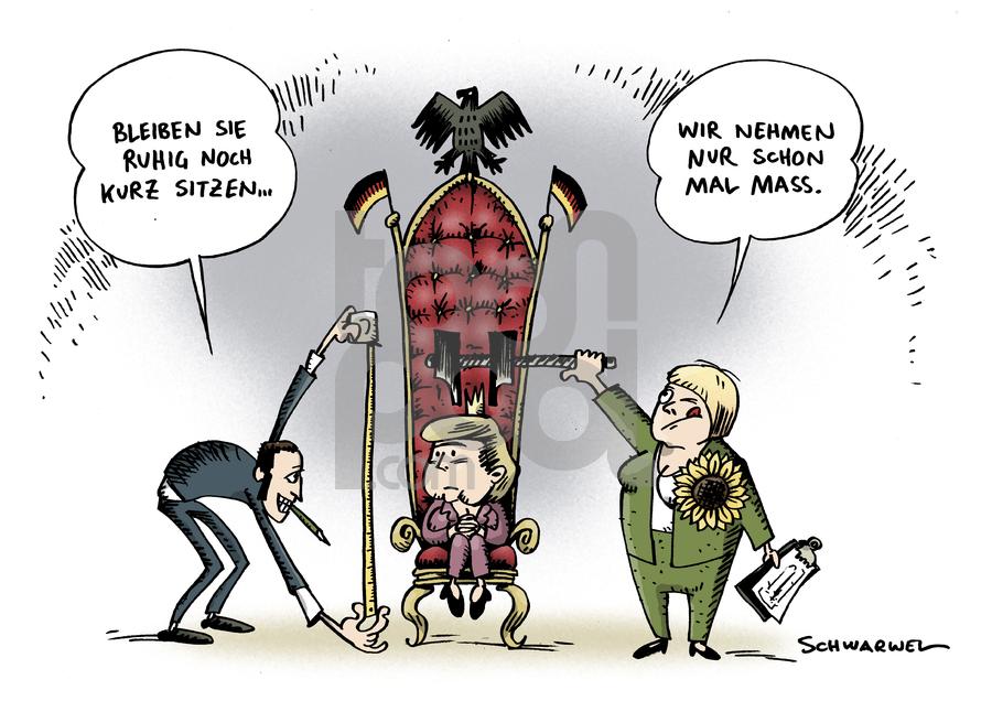 Cartoon: Grünes Umfragehoch (large) by Schwarwel tagged grüne,umfrage,hoch,partei,deutschland,regierung,spd,cdu,fdp,angela,merkel,karikatur,schwarwel,grüne,umfrage,hoch,partei,deutschland,regierung,spd,cdu,fdp,angela merkel,angela,merkel
