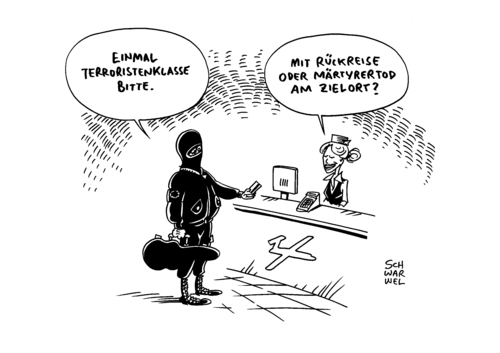 Cartoon: IS Terror UN Foreign Fighters (medium) by Schwarwel tagged is,terror,un,foreign,fighters,resolution,deutschland,kampf,karikatur,schwarwel,terrorist,märtyrer,tot,mord,gewalt,terrorismus,waffen,is,terror,un,foreign,fighters,resolution,deutschland,kampf,karikatur,schwarwel,terrorist,märtyrer,tot,mord,gewalt,terrorismus,waffen