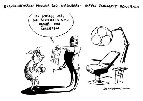 Krankenkasse Zahnarzte Von Schwarwel Wirtschaft Cartoon Toonpool