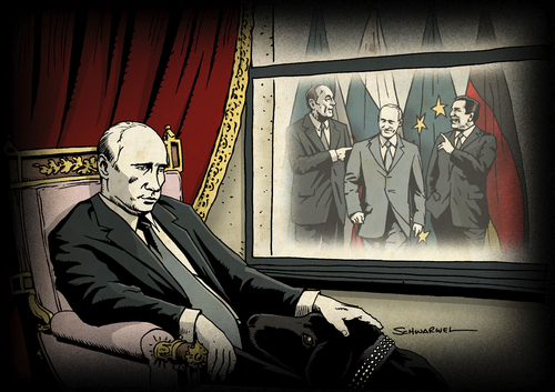 Cartoon: Putin (medium) by Schwarwel tagged putin,illustration,schwarwel,moods,film,russland,macht,gazprom,putin,illustration,schwarwel,moods,film,russland,macht,gazprom