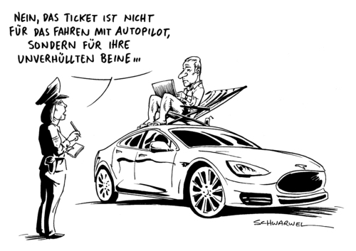 Cartoon: Stromauto Tesla Autoindustrie (medium) by Schwarwel tagged stromauto,tesla,autoindustrie,auto,karikatur,schwarwel,stromauto,tesla,autoindustrie,auto,karikatur,schwarwel
