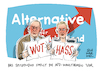 Cartoon: AfD Wahlprogramm (small) by Schwarwel tagged wahl,wahlen,wähler,bundestagswahl,partei,parteien,deutschland,politik,politiker,afd,alternative,für,hass,hassrede,wut,wutbürger,populismus,populisten,rechtspopulismus,rechtsextrem,rechtsextremismus,nazi,neonazi,flüchtlinge,geflüchtete,flüchtlingspolitik,flüchtlingskrise,wahlprogramm,asyl,asylsuchende,asylpolitik,zuwanderung,migration,parteichef,parteichefin,gauland,nazis,weidel,hate,speech,parteitag,bundestagswahlkampf,spitzenkandidat,spitzenkandidaten,spitzenkandidatin,rechtspopulisten,nationalismus,nationalistisch,rechtsnational,rechtspopulistisch,rechtspopulistische,petry,storch,nationalistische,rede,bundesparteitag,karikatur,schwarwel