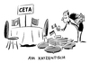 Cartoon: CETA Parlamente (small) by Schwarwel tagged ceta,freihandelsabkommen,kanada,parlamente,parlament,abstimmung,politik,regierung,us,usa,eu,europäische,union,deutschland,mitgliedstaaten,staat,staaten,handelsvertrag,juncker,comprehensive,economic,and,trade,agreement,ttip,handelsabkommen,investitionsschu