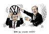 Cartoon: VW Altvater Piech Kampf (small) by Schwarwel tagged vw,altvater,piech,kampf,position,volkswagen,chef,karikatur,schwarwel