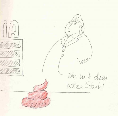 Cartoon: Der rote Stuhl (medium) by manfredw tagged manfredw,sch,stuhl,roter,rote,rot