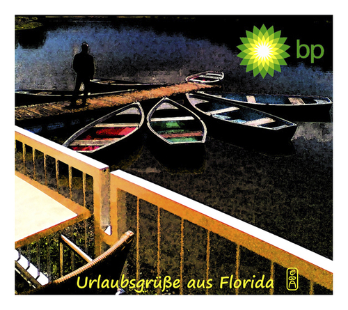 Cartoon: urlaubsgruesse (medium) by edda von sinnen tagged florida,oelpest,edda,von,sinnen