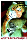 Cartoon: Gesetz des Dschungels (small) by edda von sinnen tagged dschungelgesetz,jungle,law,tiger,zebra,kissen,edda,von,sinnen