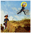 Cartoon: holy spitzweg (small) by edda von sinnen tagged composing,caricature,cartoon,great,dead,artists,on,bicycles,romantic,poisend,idylls,edda,von,sinnen,carl,spitzweg,romantik,maler