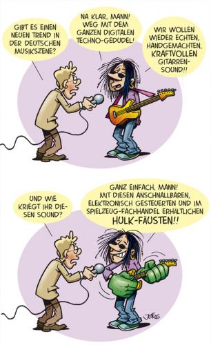 Cartoon: Neuer Sound (medium) by Comiczeichner tagged musik,gitarre,
