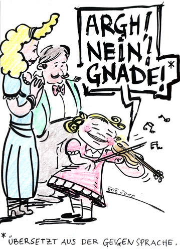 Cartoon: Die Sprache der Geigen (medium) by bob tagged geige