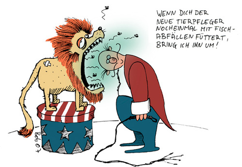 Cartoon: roarrrh! (medium) by bob tagged löwe,zirkus,dompteur