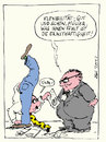 Cartoon: Flexibler Mitarbeiter (small) by bob tagged chef,boss,angestellter,arbeit,büro,flexibel