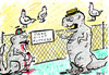 Cartoon: FUTTERN VERBOTEN! (small) by bob tagged dinosaurier,hühner