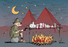 Cartoon: night in egypt (small) by bob tagged ägypten,mumie,grillen