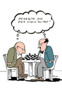 Cartoon: schach (small) by bob tagged schach