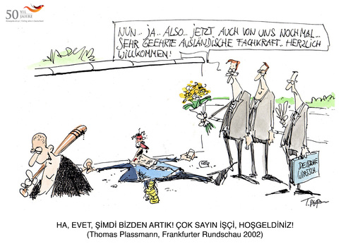 Cartoon: 50 Yil 50 Karikatür (medium) by toonpool com tagged germany,turkey,50,years,migration