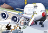 Cartoon: A380 Airbus (small) by toonpool com tagged 380,lufthansa,airbus,manjul