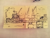 Cartoon: Hamburger Skyline (small) by Post its of death tagged hamburg,möwe