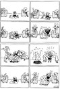 Cartoon: Fire (small) by Igor Kolgarev tagged fire family kids baby parents