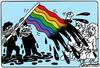 Cartoon: Gay flag (small) by K13 tagged gays,flag,homosexual,marriage