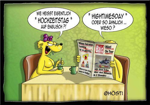Cartoon: Hochzeitstag (medium) by Hösti tagged hoesti,hösti,cartoons
