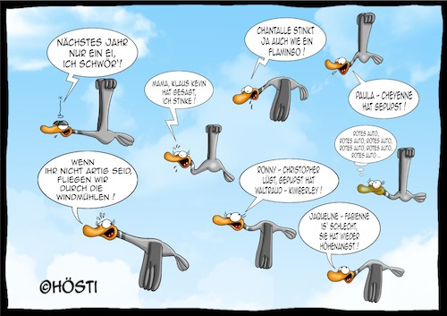 Cartoon: Höstis Vögelkunde (medium) by Hösti tagged hösti,cartoons,hoesti,stephan,höstermann,vögel,vogel,ornithologie,vögelkunde