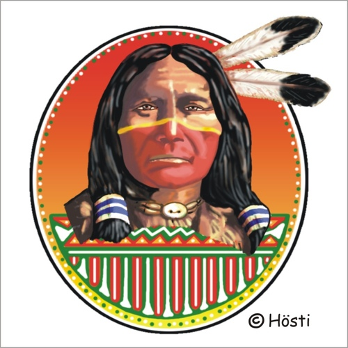 Cartoon: Indian Spirit   First Nation (medium) by Hösti tagged indian,spirit,first,nation,feuerzeuge,lighters,hösti