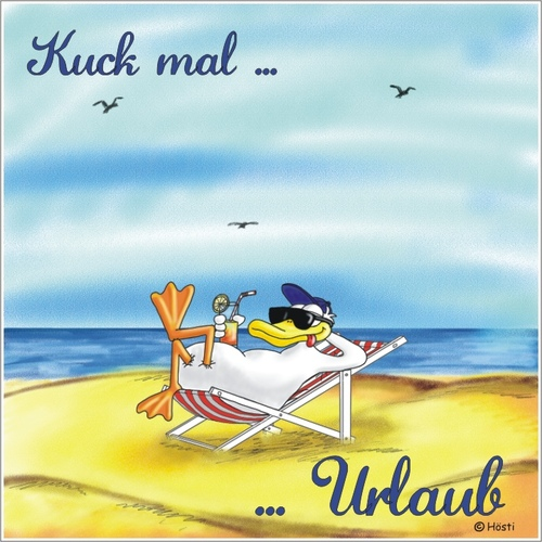 Cartoon kuck mal urlaub medium by hösti tagged urlaub strand