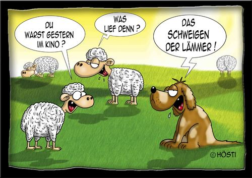 Cartoon: schweigen der lämmer (medium) by Hösti tagged schaf,schafe ...