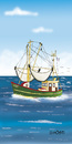 Cartoon: Flaschenpost Motiv 3  2012 (small) by Hösti tagged flaschenpost,hösti,cartoons,kutter,nordsee