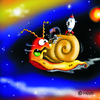 Cartoon: Höstis Schneckencartoons (small) by Hösti tagged schnecken,snails,hösti,cartoon,fkk,weltraum